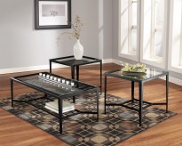 Ashley Calder Black Coffee Table Set Available Online in Dallas Fort Worth Texas