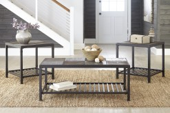 Ashley Chelner 3pc Dark Gray Coffee Table Set Available Online in Dallas Fort Worth Texas