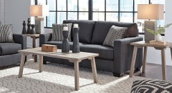 Ashley Ginnia 3pc Light Gray Coffee Table Set Available Online in Dallas Fort Worth Texas