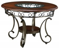 Ashley Glambrey Brown Round Dining Table Available Online in Dallas Fort Worth Texas