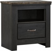 Ashley Westinton Black and Brown Nightstand Available Online in Dallas Fort Worth Texas