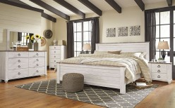 Willowton 5pc King Panel Bed Bedroom Group Available Online in Dallas Fort Worth Texas