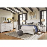 Willowton 5pc King Sleigh Bedroom Group Available Online in Dallas Fort Worth Texas