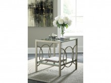 Ashley Charmoni Gold End Table Available Online in Dallas Fort Worth Texas