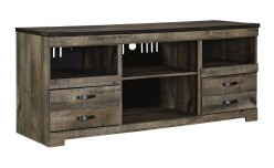 Trinell Brown Large TV Console Available Online in Dallas Fort Worth Texas