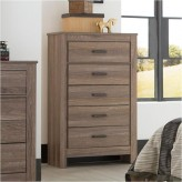 Ashley Waldrew Warm Grey 5 Drawer Chest Available Online in Dallas Fort Worth Texas