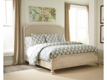 Demarlos King Upholstered Panel Bed Available Online in Dallas Fort Worth Texas