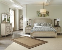 Demarlos 5pc King Upholstered Panel Bedroom Group Available Online in Dallas Fort Worth Texas