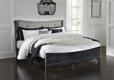 Ashley Amrothi King Upholstered Panel Bed Available Online in Dallas Fort Worth Texas
