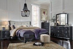 Ashley Amrothi 5pc King Upholstered Panel Bedroom Group Available Online in Dallas Fort Worth Texas