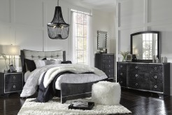 Ashley Amrothi 5pc Queen Upholstered Panel Bedroom Group Available Online in Dallas Fort Worth Texas