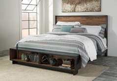 Ashley Stavani King Panel Storage Bed Available Online in Dallas Fort Worth Texas