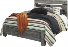 Cazenfeld Black and Grey King Panel Bed Available Online in Dallas Fort Worth Texas