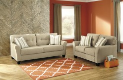 Ashley Laryn 2pc Khaki Sofa and Loveseat Set Available Online in Dallas Fort Worth Texas