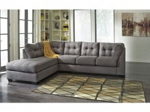 Maier 2pc Charcoal Left Arm Facing Corner Chaise Sectional Available Online in Dallas Fort Worth Texas