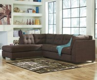 Maier 2pc Walnut Left Arm Facing Chaise Sectional Available Online in Dallas Fort Worth Texas