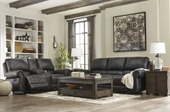Ashley Milhaven 2pc Black Power Sofa & Loveseat Set Available Online in Dallas Fort Worth Texas