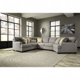Cresson 4pc Right Arm Facing Cuddler Sectional Available Online in Dallas Fort Worth Texas