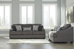 Gilmer 2pc Gunmetal Sofa & Loveseat Set Available Online in Dallas Fort Worth Texas