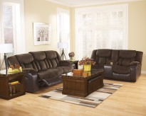 Ashley Tafton 2pc Dark Brown Sofa & Loveseat Set Available Online in Dallas Fort Worth Texas