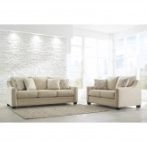 Ashley Mauricio Linen 2pc Sofa & Loveseat Set Available Online in Dallas Fort Worth Texas