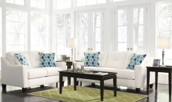 Ashley Forsan Nuvella 2pc White Sofa & Loveseat Set Available Online in Dallas Fort Worth Texas
