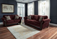 Ashley Chesterbrook 2pc Burgundy Sofa & Loveseat Set Available Online in Dallas Fort Worth Texas