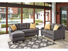 Aldie Nuvella Gray 2pc Sofa Chaise & Loveseat Set Available Online in Dallas Fort Worth Texas