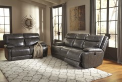 Ashley Palladum 2pc Power Reclining Sofa & Loveseat Set Available Online in Dallas Fort Worth Texas