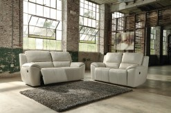 Ashley Valeton 2pc Cream Reclining Power Sofa & Loveseat Set Available Online in Dallas Fort Worth Texas