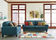 Ashley Sagen 2pc Teal Sofa & Loveseat Set Available Online in Dallas Fort Worth Texas