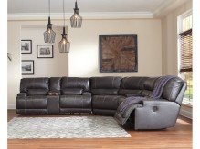 McCaskill 3pc Grey Power Reclining Sectional Available Online in Dallas Fort Worth Texas
