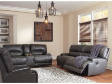 McCaskill 2pc Grey Reclining Sofa & Loveseat Set Available Online in Dallas Fort Worth Texas