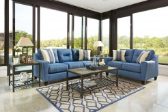 Ashley Forsan Nuvella Blue 2pc Sofa & Loveseat Set Available Online in Dallas Fort Worth Texas
