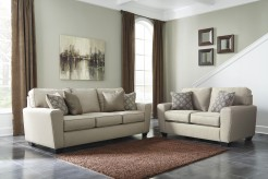 Calicho 2pc Ecru Sofa & Loveseat Set Available Online in Dallas Fort Worth Texas