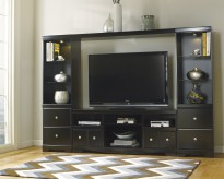 Ashley Shay 4pc Black Entertainment Center Available Online in Dallas Fort Worth Texas