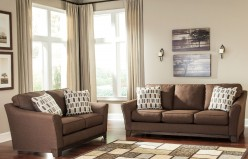 Ashley Alara Chocolate 2pc Sofa & Loveseat Set Available Online in Dallas Fort Worth Texas
