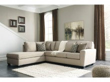 Calicho 2pc Ecru Left Arm Facing Chaise Sectional Available Online in Dallas Fort Worth Texas