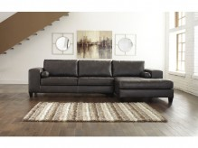 Nokomis 2pc Charcoal Right Arm Facing Chaise Sectional Available Online in Dallas Fort Worth Texas