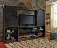 Sharlowe Charcoal 4pc Entertainment Center Available Online in Dallas Fort Worth Texas