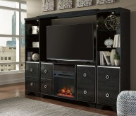 Amrothi Black 4pc Entertainment Center Available Online in Dallas Fort Worth Texas