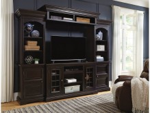 Willenburg 4pc Dark Coffee Entertainment Center Available Online in Dallas Fort Worth Texas