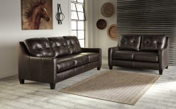 Ashley O'Kean 2pc Mahogany Sofa... Available Online in Dallas Fort Worth Texas