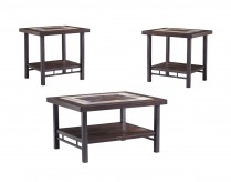 Ashley Gallivan 3pc Two-tone Coffee Table Set Available Online in Dallas Fort Worth Texas