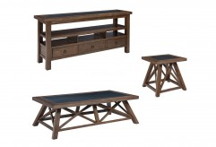 Ashley Campfield 3pc Brown Coffee Table Set Available Online in Dallas Fort Worth Texas