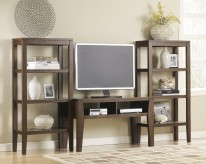 Ashley Deagan 3pc Dark Brown Wall Unit Available Online in Dallas Fort Worth Texas