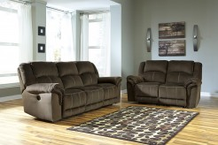 Ashley Quinnlyn 2pc Coffee Power Sofa & Loveseat Set Available Online in Dallas Fort Worth Texas