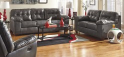 Alliston DuraBlend Grey 2pc Sofa & Loveseat Set Available Online in Dallas Fort Worth Texas