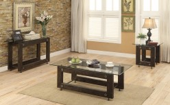 Coaster Knottley 3pc Brown Coffee Table Set Available Online in Dallas Fort Worth Texas