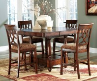 Ashley Leahlyn Medium Brown 5pc Dining Table Set Available Online in Dallas Fort Worth Texas